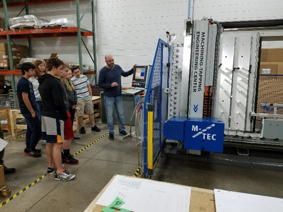 kids learning about the M-TEC at Bevco